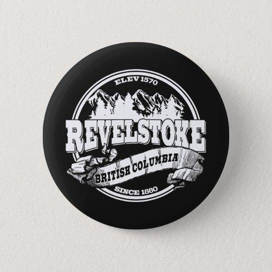 Revelstoke Old Circle Black 6 Cm Round Badge