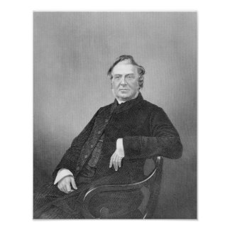Reverend Hugh Stowell, engraved by D. J. Pound Poster