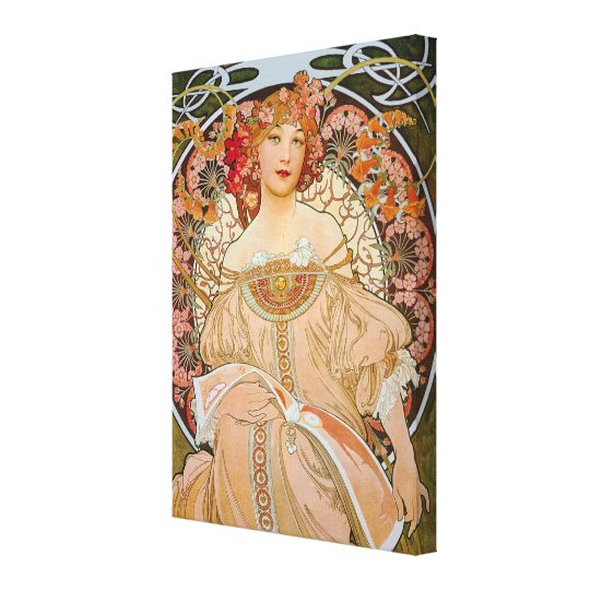 Reverie by Alphonse Mucha Canvas Print