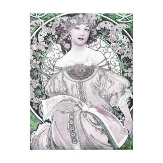 Reverie Champagne Advertisement Alphonse Mucha Canvas Print