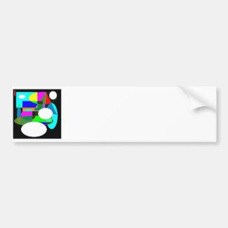 Reverse Abstract by Wendy C. Allen Bumper Sticker