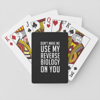 Reverse Biology Playing Cards