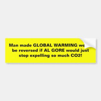 Reverse Man Made Global Warming! Car Bumper Sticker