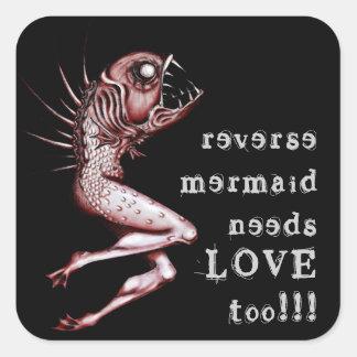 Reverse mermaid needs love awareness sticker