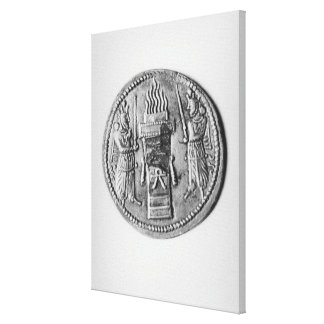 Reverse of a coin of Shapur II Gallery Wrapped Canvas