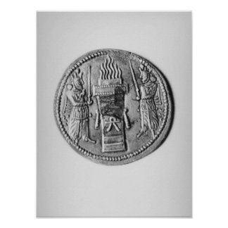 Reverse of a coin of Shapur II Print