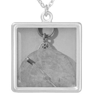 Reverse of a Moorish astrolabe, from Cordoba Silver Plated Necklace