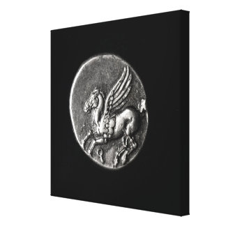 Reverse side of  coin depicting Pegasus Gallery Wrap Canvas