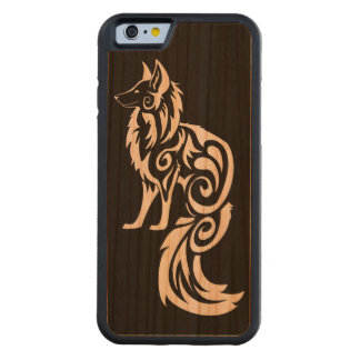 Reverse Tribal Kitsune Fox Carved Cherry iPhone 6 Bumper Case