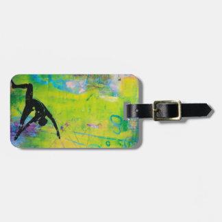 Reverse Warrior Yoga Girl Luggage Tag