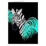 Reverse Zebra - Inverted Greeting Card