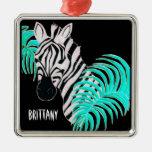 Reverse Zebra - Inverted Ornament