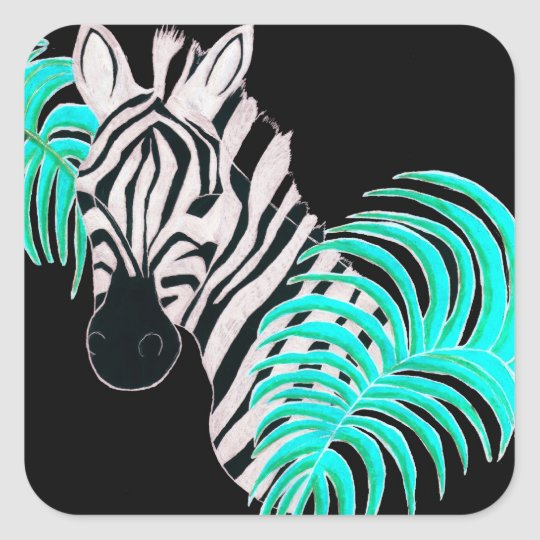 Reverse Zebra - Inverted Square Sticker