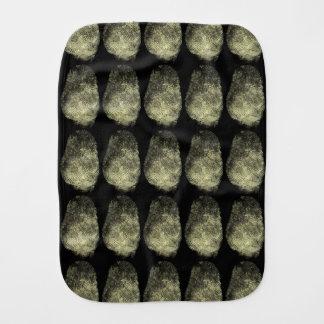Reversed Loop Fingerprint Baby Burp Cloths