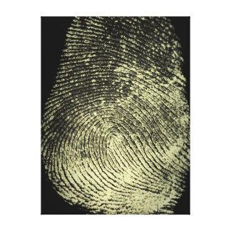 Reversed Loop Fingerprint Canvas Prints
