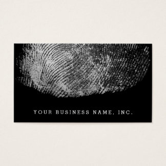 Reversed Loop Fingerprint Monochrome Business Card
