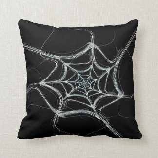 Reversible Abstract Black and White Fractal Pillow