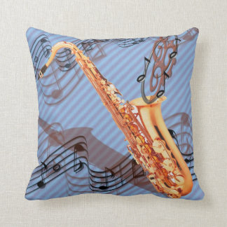 Reversible Abstract Saxophone Throw Pillow