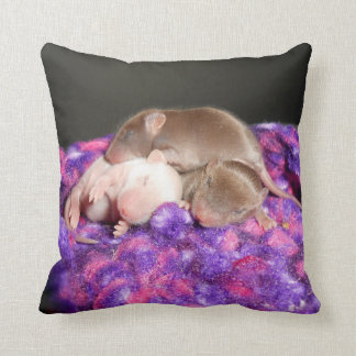 Reversible Baby Mice Throw Pillow