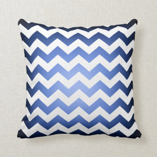 Reversible Blue Black Fade Chevron Pattern Cushion