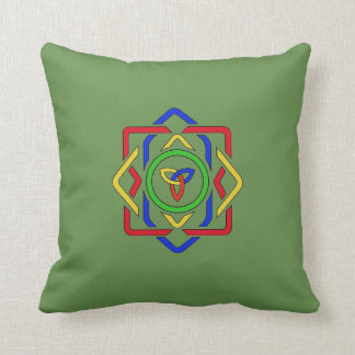 Reversible Cat and Celtic Design Cushion
