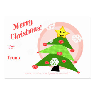 Reversible Christmas Cats / Girls Gift Tag Pack Of Chubby Business Cards