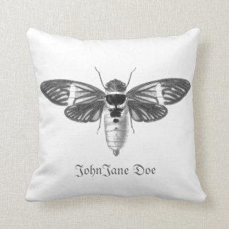 Reversible Cicada front and allover cicada back Cushion