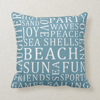 Reversible Custom Color Beach House pillow
