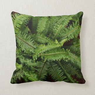 Reversible Green Fern Leaves Pillow