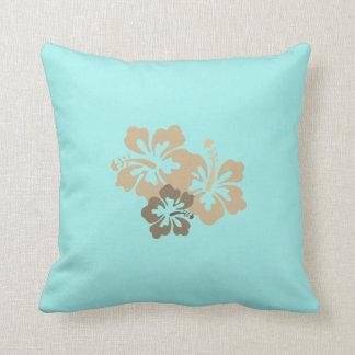 Reversible Hawaiian Hibiscus Throw Pillows