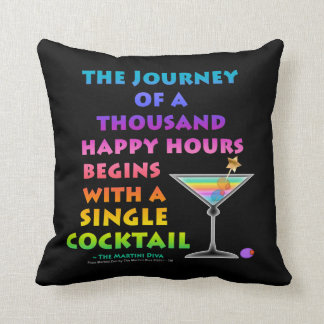REVERSIBLE Journey of a Thousand Happy Hours - Mar Throw Cushion