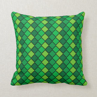 Reversible Multi Green Pillow diamond shapes