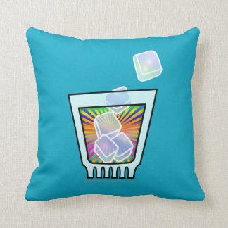 Reversible PILLOWS - PSYCHEDELIC COCKTAIL GLASS Throw Cushions