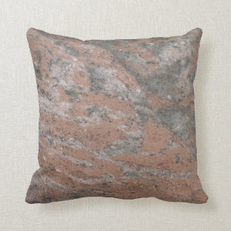 Reversible Pink n Gray Textured Pillow solid back