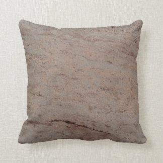 Reversible solid back Tan n Gray Textured Pillow