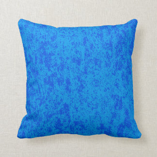Reversible Solid Blue Back on Blue Textured Pillow