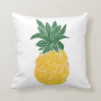 Reversible Watercolor Pineapple Pillow
