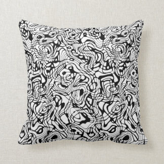 Reversible White/Black Wandering Pattern Cushion