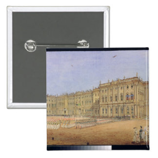 Review at the Winter Palace 15 Cm Square Badge