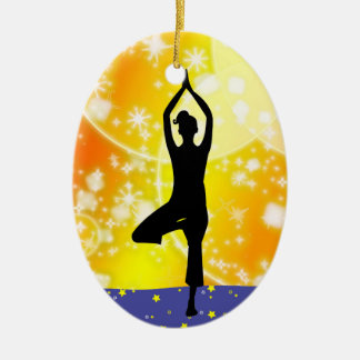 Revised Fitness! Yoga - Tree - SRF Christmas Ornament