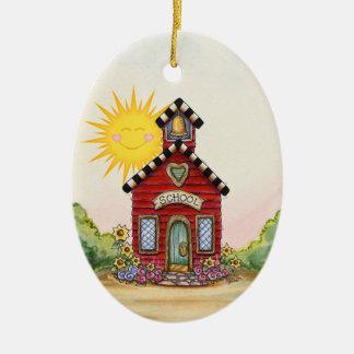 Revised! School House - SRF Christmas Ornament