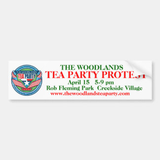 Revised The Woodlands Tea Party b.sticker w/logo Bumper Sticker
