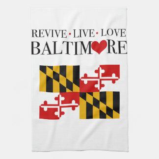 Revive Live Love Baltimore Tea Towel
