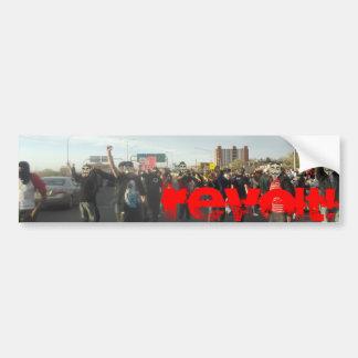 revolt! car bumper sticker