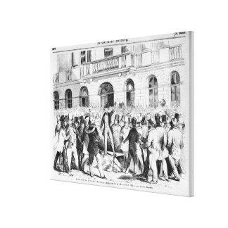 Revolt in Vienna Canvas Print