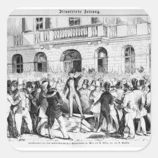 Revolt in Vienna Square Sticker