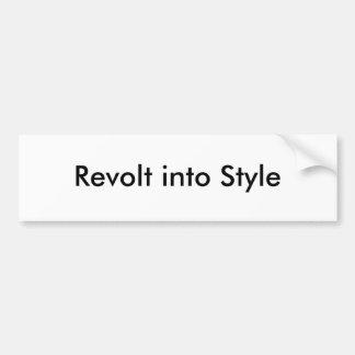 Revolt into Style Bumper Sticker