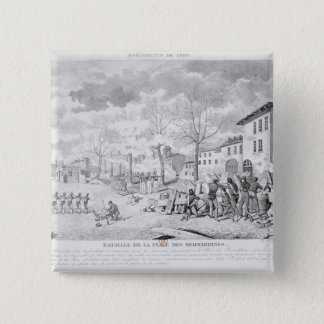 Revolt of the silk workers of Lyon 15 Cm Square Badge