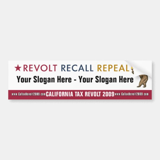 Revolt Recall Repeal - Custom Bumper Sticker