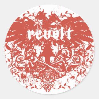 revolt round sticker